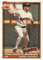 1991 Topps 373 Darrin Jackson