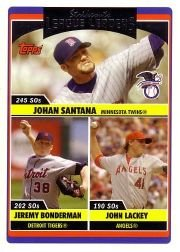 2006 Topps Update 208 Johan Santana/Jeremy Bonderman/John Lackey