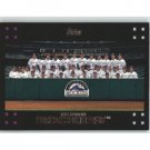 2007 Topps 601 Colorado Rockies
