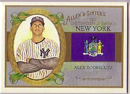 2008 Topps Allen and Ginter United States #US32 Alex Rodriguez