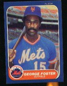 1986 Fleer #80 George Foster