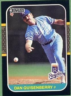 1987 Donruss Baseball #177 Dan Quisenberry
