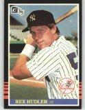 1985 Donruss #469 Rex Hudler