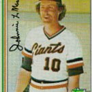 1982 Topps #304 Johnnie LeMaster