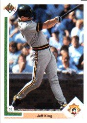 1991 Upper Deck 687 Jeff King