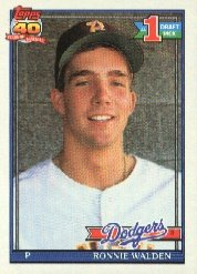1991 Topps 596 Ronnie Walden RC