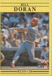 1991 Fleer 63 Bill Doran