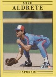1991 Fleer 224 Mike Aldrete