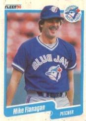 1990 Fleer 81 Mike Flanagan