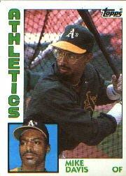 1984 Topps #558 Mike Davis