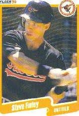 1990 Fleer 176 Steve Finley