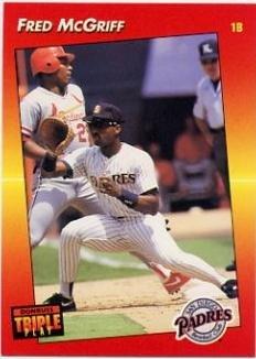 1992 Donruss Triple Play Baseball #87 Fred McGriff