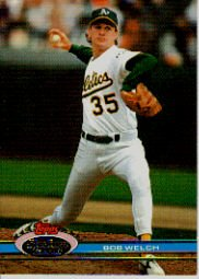 1991 Stadium Club #79 Bob Welch