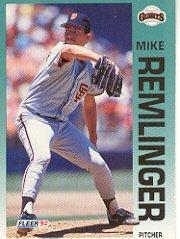 1992 Fleer #646 Mike Remlinger