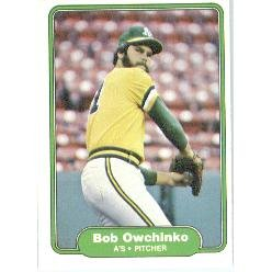 1982 Fleer 104 Bob Owchinko