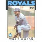1986 Topps 25 Willie Wilson