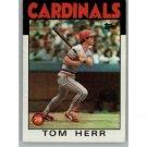 1986 Topps 550 Tom Herr