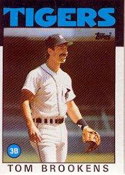 1986 Topps 643 Tom Brookens