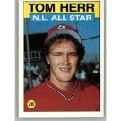 1986 Topps 702 Tom Herr AS