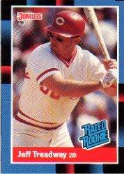 1988 Donruss 29 Jeff Treadway RR RC