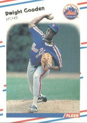 1988 Fleer 135 Dwight Gooden