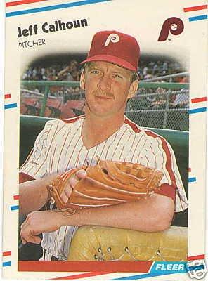 1988 Fleer 299 Jeff Calhoun