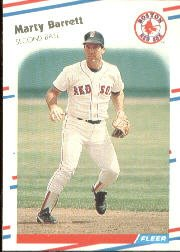 1988 Fleer 343 Marty Barrett