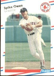 1988 Fleer 359 Spike Owen