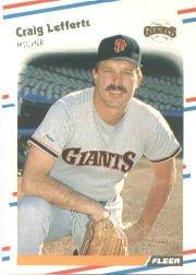 1988 Fleer 87 Craig Lefferts