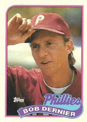 1989 Topps 418 Bob Dernier