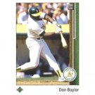 1989 Upper Deck 601 Don Baylor