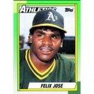 1990 Topps 238 Felix Jose