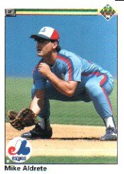1990 Upper Deck 415 Mike Aldrete