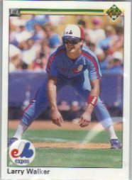 1990 Upper Deck 466 Larry Walker RC