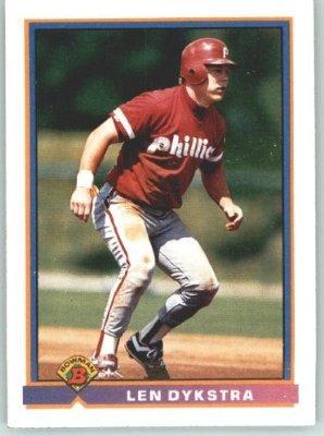 1991 Bowman 501 Len Dykstra