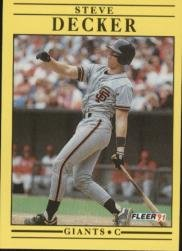 1991 Fleer 260 Steve Decker RC