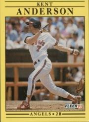 1991 Fleer 306 Kent Anderson
