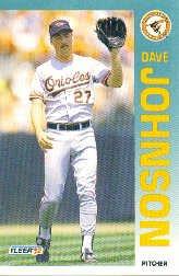 1992 Fleer 12 Dave Johnson