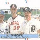 1988 Fleer 626 Bret Saberhagen/Mike Witt/Jack Morris