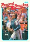 1989 Topps 3 Gary Carter RB/Sets Record for/Career Putouts