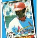 1989 Topps 662 Lou Brock TBC79