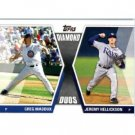 2011 Topps Diamond Duos Baseball Card #DD-MH Greg Maddux & Jeremy Hellickson