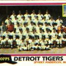 1981 Topps #666 Tigers Team