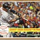 2011 Topps Heritage #236 Giants Crush Rangers HL