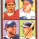 2009 Upper Deck Goudey 4-In-1 #27 Johnny Bench/Yogi Berra/Joe Mauer/Brian McCann