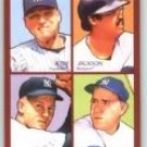 2009 Upper Deck Goudey 4-In-1 #5 Derek Jeter/Reggie Jackson/Yogi Berra/Whitey Ford