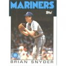 1986 Topps 174 Brian Snyder RC