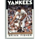1986 Topps 584 Brian Fisher RC
