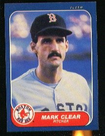 1986 Fleer #344 Mark Clear