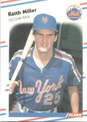 1988 Fleer 144 Keith A. Miller RC